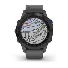 Мультиспортивные часы Garmin Fenix 6 Pro Solar с GPS, черный с серым ремешком (010-02410-11) #4