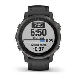 Мультиспортивные часы Garmin Fenix 6S Sapphire с GPS, серые с черным ремешком (010-02159-25) #1