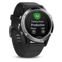 Мультиспортивные часы Garmin Fenix 5 с GPS, Glass, серебристые с черным ремешком (010-01688-03) #3