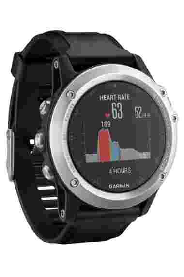 Навигатор-часы Garmin Fenix 3 HR серебрянный с черным силикон. браслетом (010-01338-77) #1