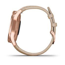 Часы с трекером активности Garmin VivoMove Luxe роз. золото PVD 18K с кожан. ремешком (010-02241-21) #7