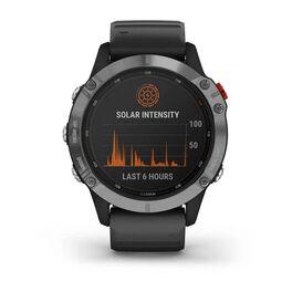 Мультиспортивные часы Garmin Fenix 6 Solar с GPS, серебристые с черным ремешком (010-02410-00) #7