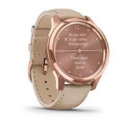 Часы с трекером активности Garmin VivoMove Luxe роз. золото PVD 18K с кожан. ремешком (010-02241-21) #2