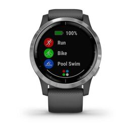 Смарт часы Garmin Vivoactive 4 серые с серебристым безелем (010-02174-03) #3