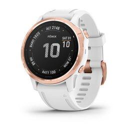 Мультиспортивные часы garmin fenix 6s pro с gps, розов.золото с белым ремешком. Артикул: 010-02159-11