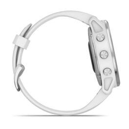 Мультиспортивные часы Garmin Fenix 6S с GPS, серебристые с белым ремешком (010-02159-00) #4