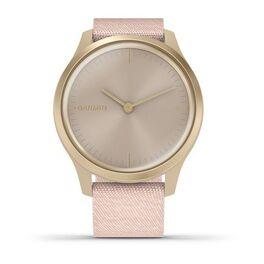 Часы с трекером активности Garmin VivoMove Style золотистый с роз. плетеным ремешком (010-02240-22) #1