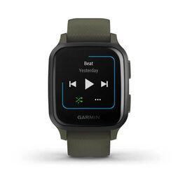 Смарт-часы Garmin Venu Sq NFC Music с серым безелем и темно-зеленым ремешком (010-02426-13) #2