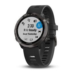 Спортивные часы garmin forerunner 645 music серые с черным ремешком. Артикул: 010-01863-32