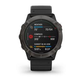 Мультиспортивные часы Garmin Fenix 6X PRO Solar с GPS, титановый с черным ремешком (010-02157-21) #5