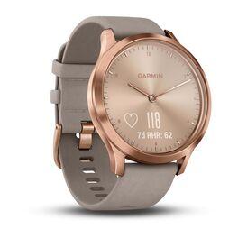 Часы с трекером активности Garmin VivoMove HR Premium, роз.золото, кожа сер. 127-204мм(010-01850-09) #1