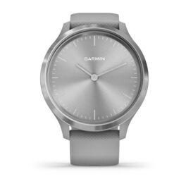 Часы с трекером активности Garmin VivoMove 3, серебр. с серым силиконовым ремешком (010-02239-20) #1