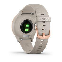 Часы с трекером активности Garmin VivoMove 3S, розовое золото с песочным ремешком (010-02238-22) #5