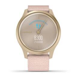 Часы с трекером активности Garmin VivoMove Style золотистый с роз. плетеным ремешком (010-02240-22) #3