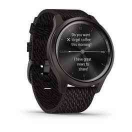 Часы с трекером активности Garmin VivoMove Style графит с плетеным черн. ремешком (010-02240-23) #1