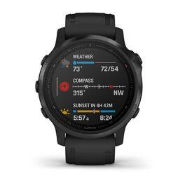 Мультиспортивные часы Garmin Fenix 6S PRO с GPS, черные с черным ремешком (010-02159-14) #3