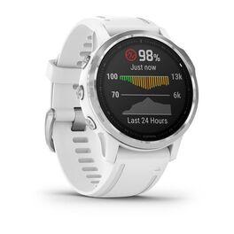 Мультиспортивные часы Garmin Fenix 6S с GPS, серебристые с белым ремешком (010-02159-00) #2