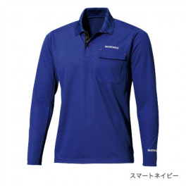 Футболка shimano polo shirt (long sleeve) sh-093n Синий 2xl (eu. xl) (5ysh093n2c). Артикул: 5YSH093N2C