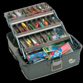 Ящик plano 6134 Большой с 3х уровневой системой хранения приманок, 29-39 отсеков 489х254х247 мм. Артикул: 6134-02