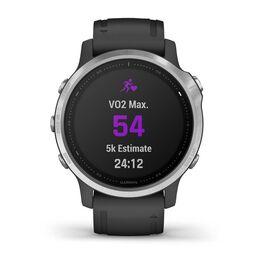 Мультиспортивные часы Garmin Fenix 6S с GPS, серебристые с черным ремешком (010-02159-01) #7